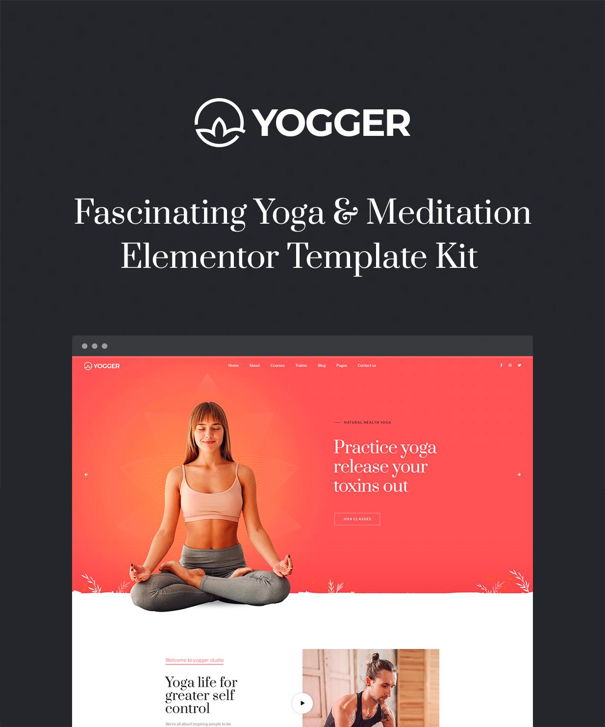 Yogger - Meditation and Yoga Elementor Template Kit